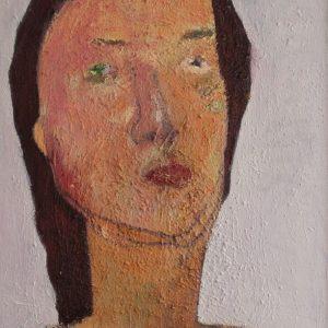 MRZ009 Marzieh Self Portrait Artwork Meloomi Persian Art Gallery