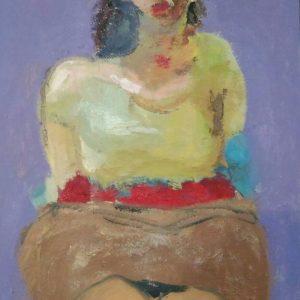 MRZ003 Marzieh Self Portrait Artwork Meloomi Persian Art Gallery