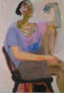 MRZ001 Marzieh Self Portrait Artwork Meloomi Persian Art Gallery