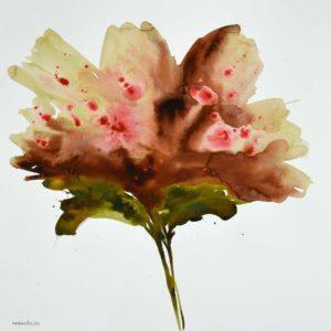 JAL006 Jalaleddin Mashmooli Iranian Artist Koutena Flowers Meloomi Persian Art Gallery