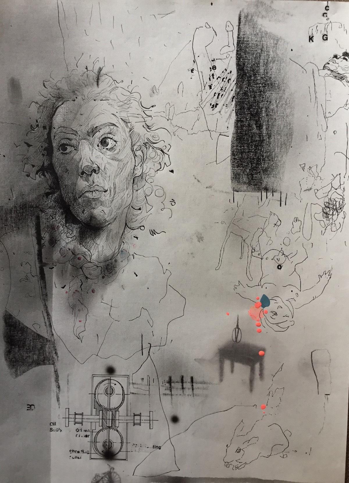 KHT008 Mehrdad Khataei Iranian Artist Chernobyl Meloomi Persian Art Gallery
