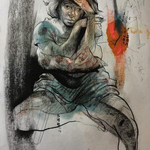 KHT010 Mehrdad Khataei Iranian Artist Chernobyl Meloomi Persian Art Gallery