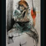 KHT010 Framed Meloomi Persian Art Gallery